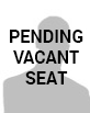 Graphic that says pending vacant seat