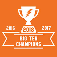 Graphic with trophy signifying Big Ten electric power ranking champions