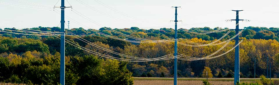 Image of power poles and lines